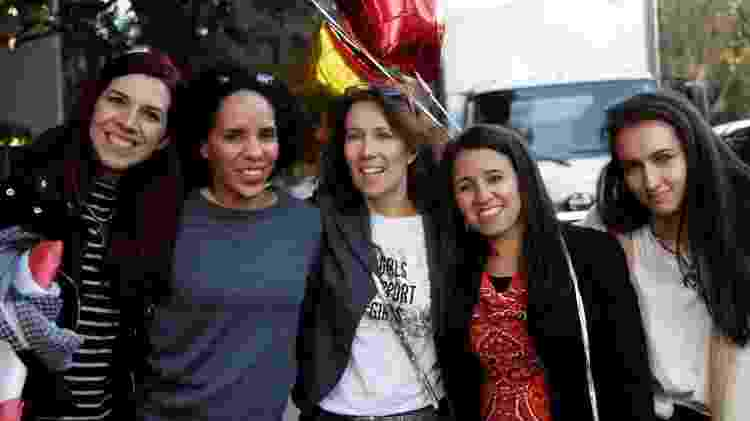 Brasileiras durante encontro do Café com Abraço no Vale do Silício - Reprodução Facebook - Reprodução Facebook