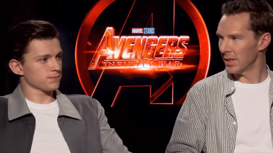 Tom Holland e Benedict Cumberbatch falam sobre os 10 anos do Universo Marvel - Reprodução/YouTube
