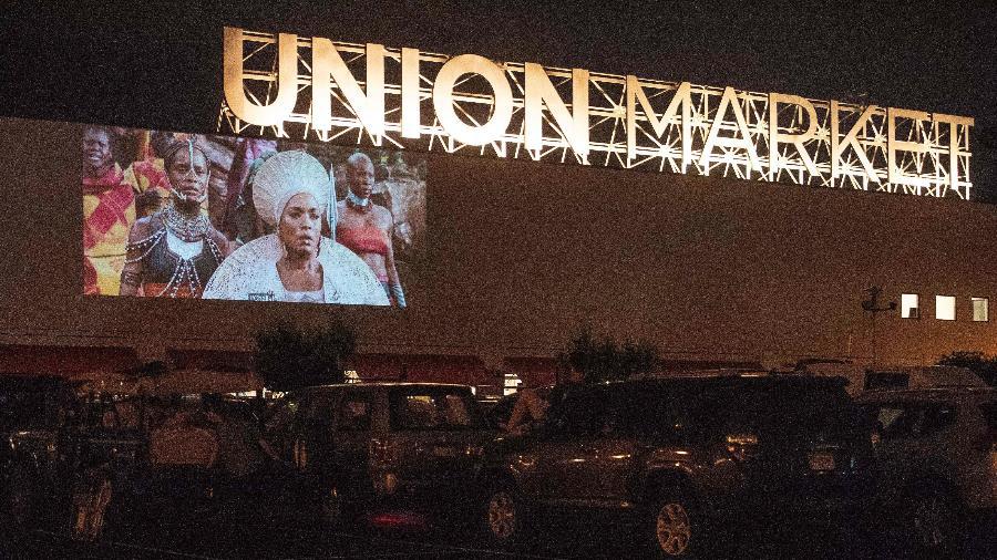 Drive-in no centro Union Market, em Washington - Nicholas Kamm/AFP