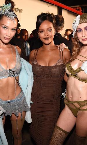 Desfile da Savage X Fenty, grife de lingerie de Rihanna, na NYFW 2018