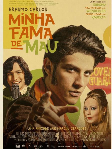 """Pôster do filme """"Minha Fama de Mau"""", cinebiografia de Erasmo Carlos protagonizada por Chay Suede - Reprodução"""