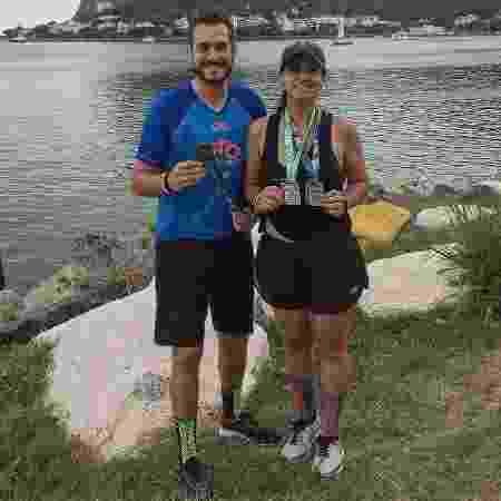 Ludmila e Murillo já fizeram várias provas juntos e agora estão treinando para correr a Maratona de Paris - Arquivo pessoal