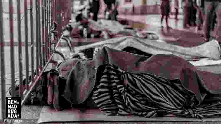 Frio e medo são constantes no dia a dia de quem vive nas ruas - Edu Braga/ONG Bem da Madrugada/Divulgação - Edu Braga/ONG Bem da Madrugada/Divulgação