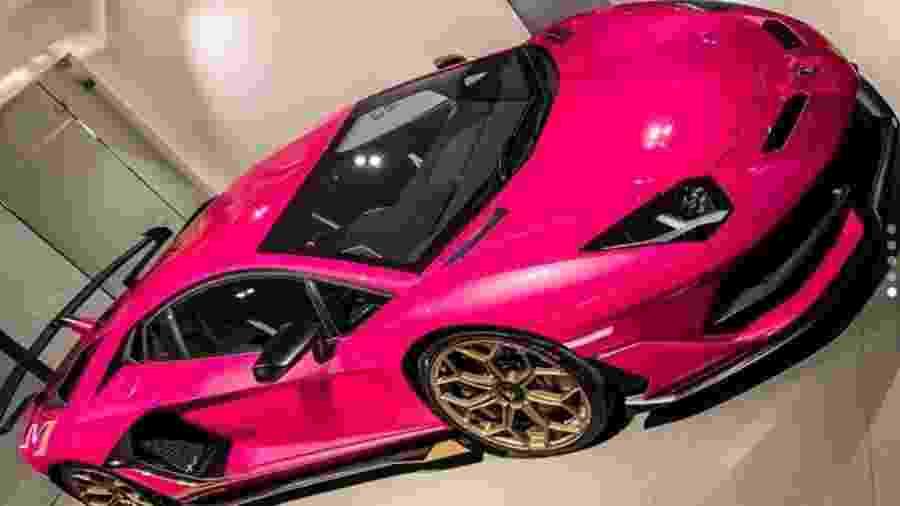Lamborghini Aventador SVJ pink - Reprodução
