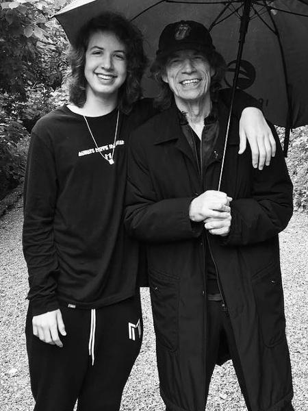Lucas e Mick Jagger - Reprodução/ Instagram