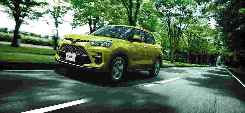 Toyota Raize é construído sobre versão simplificada da plataforma do novo Corolla; tem 4 m de comprimento e pesa menos de 1 tonelada - Divulgação