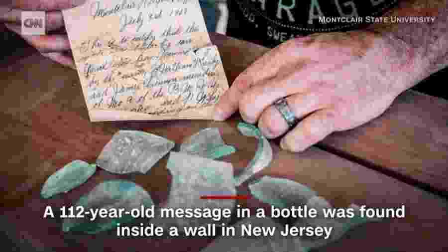 Carta encontrada em Nova Jersey - Reprodução/CNN
