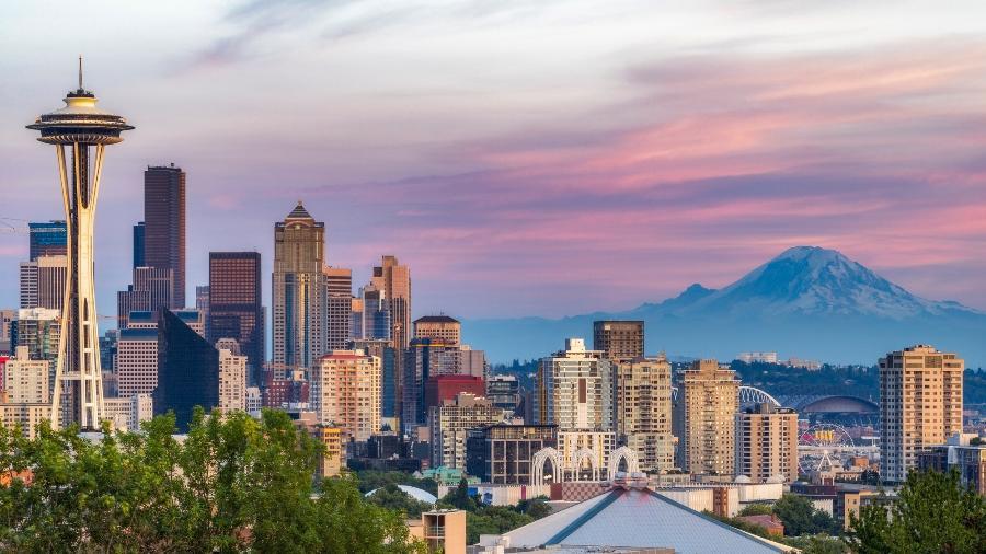 A cidade de Seattle, nos Estados Unidos, próxima à fronteira com o Canadá, que será reaberta - iStock