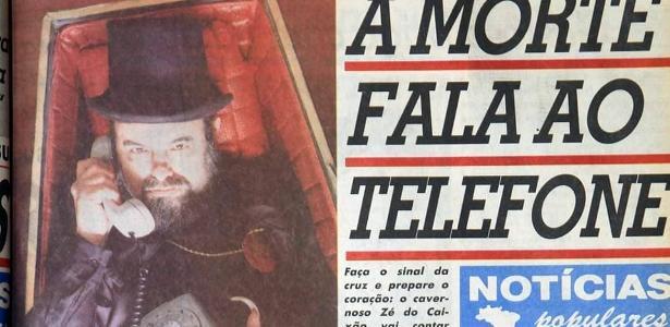 Zé do Caixão was successful with his 'stories' in Notícias Populares; remember