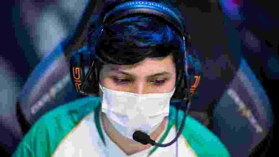 Jogador da Redemption em partida de sábado (14/03) do CBLoL - Divulgação/Riot Games