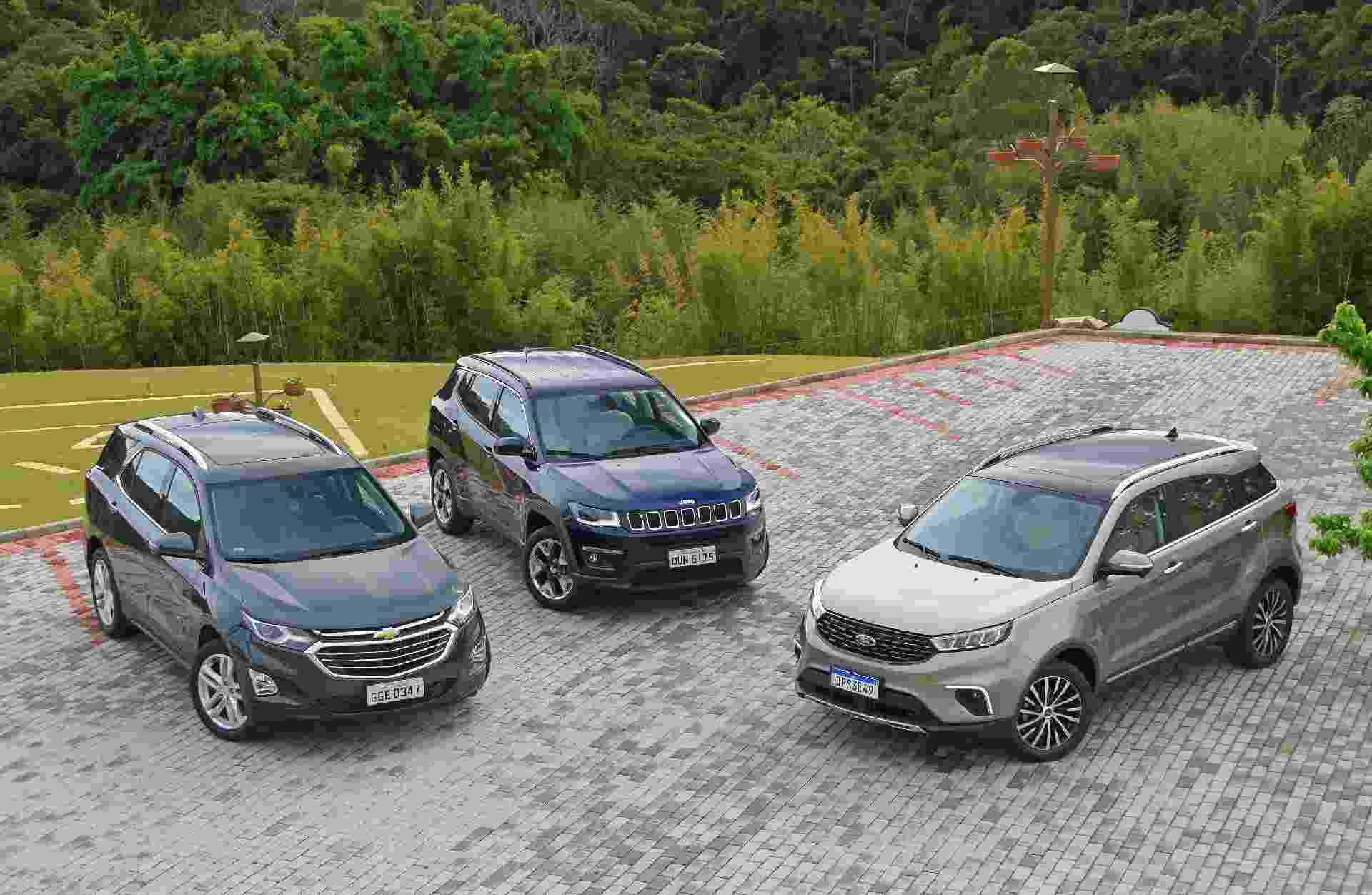 Ford Territory x Jeep Compass x Chevrolet Equinox - Murilo Góes/UOL