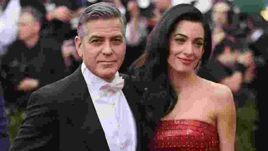 George Clooney e a esposa, Amal Clooney - Getty Images