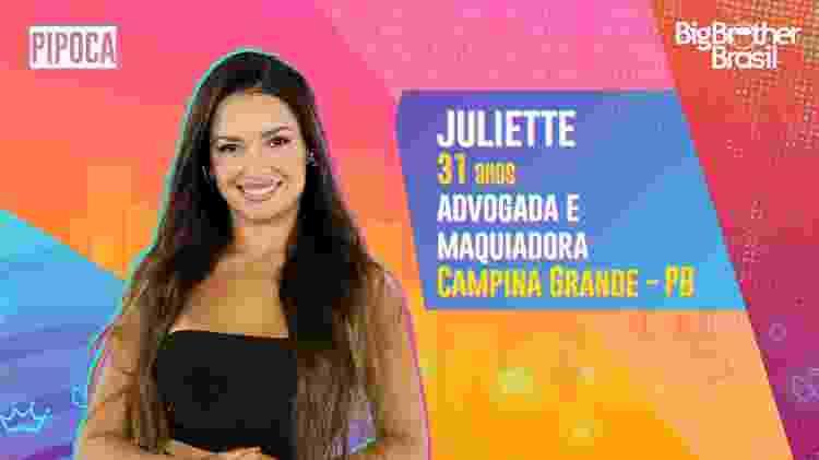 Juliette no BBB 21 - Divulgação - Divulgação