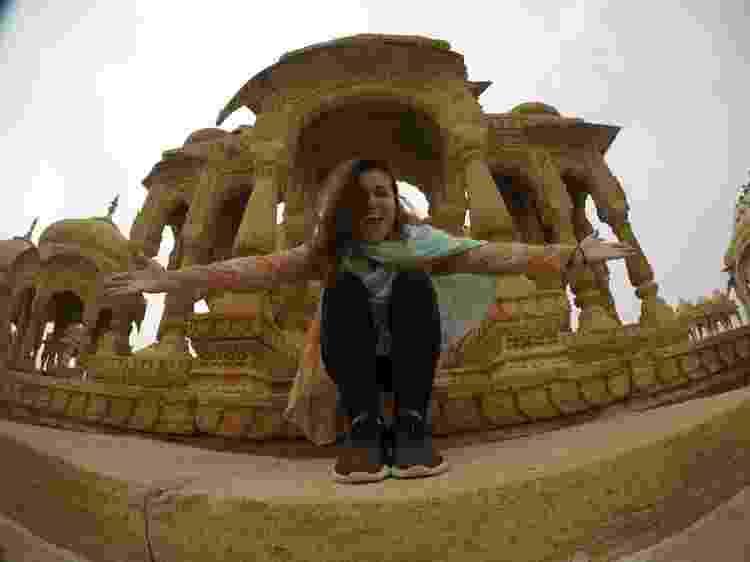 Priscilla sozinha na Índia - Arquivo pessoal - Arquivo pessoal