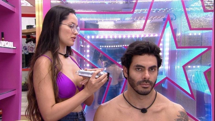 BBB 21: Juliette corta o cabelo de Rodolffo - Reprodução / Globoplay
