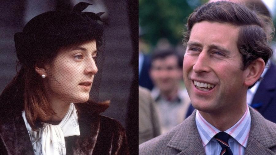 Amanda Knatchbull e Príncipe Charles nos anos 70 - Reprodução/Divulgação