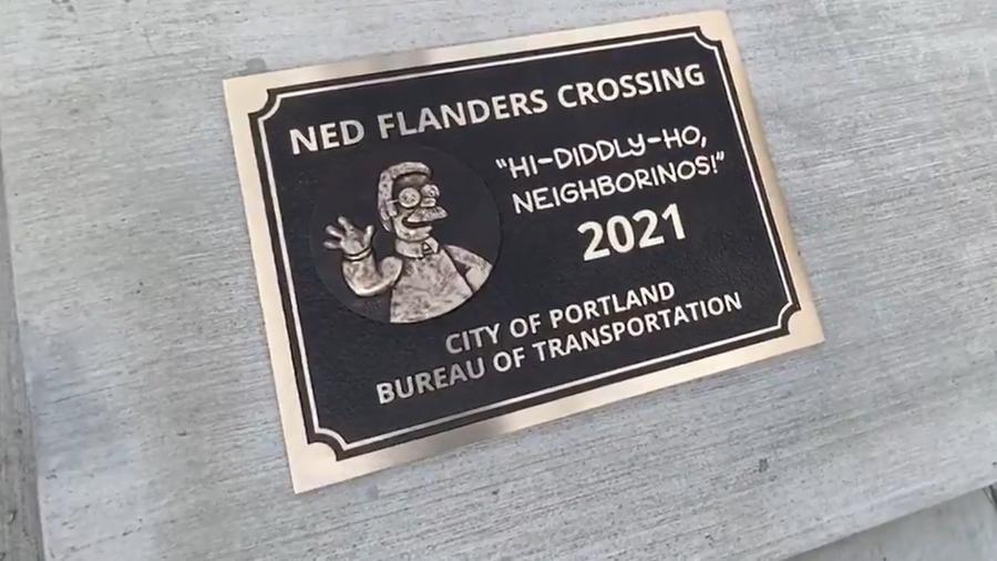 Ponte Ned Flanders em Portland, Oregon, nos Estados Unidos - Reprodução