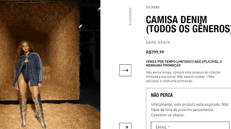 Camisa usada por Galisteu na estreia de 'A Fazenda' - Reprodução/Adidas - Reprodução/Adidas