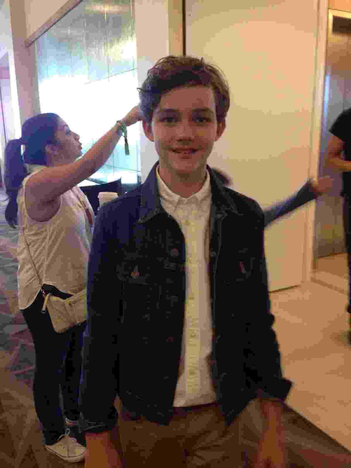 11.jul.2015 - Levi Miller, que viverá Peter Pan em nova adaptação, participa da San Diego Comic-Con - James Cimino/UOL