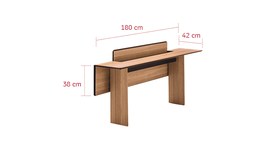 Tem uma sala de jantar pequena? A dica é escolher uma mesa retrátil como esta da Resource Furniture (www.resourcefurniture.com). Quando retraído, o móvel pode ser usado como um aparador ou mesa de trabalho - encostado à parede - e quando estendida, a peça vira uma mesa de jantar que pode acomodar até oito pessoas - Divulgação/ Arte UOL