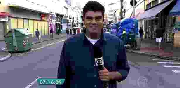 """André Azeredo no """"Bom Dia São Paulo"""" - Reprodução/TV Globo"""