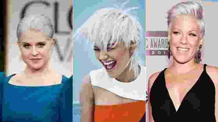 Kelly Osbourne, Rita Ora e Pink foram algumas das famosas que adortaram o visual - Getty Images/Reprodução/Instagram - Getty Images/Reprodução/Instagram
