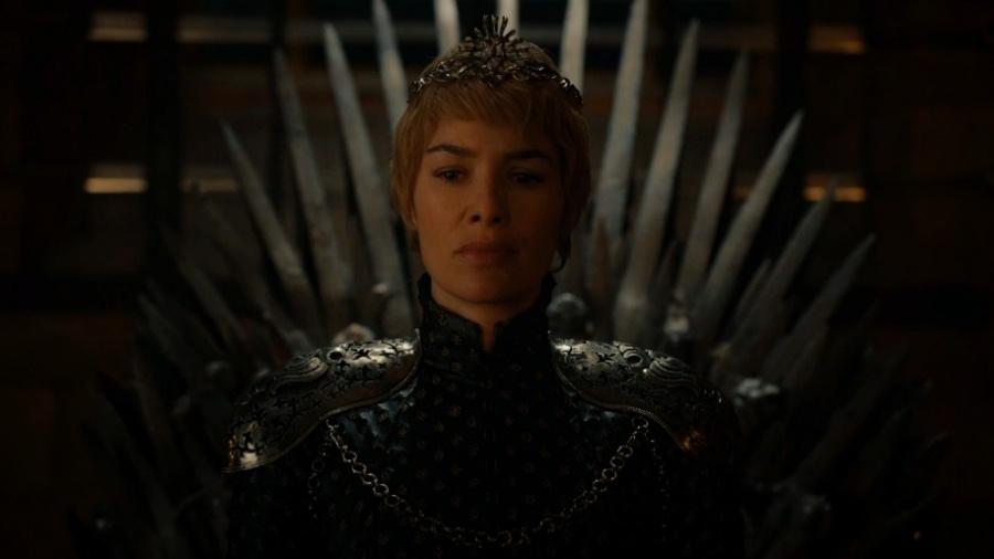 """Cersei (Lena Headey) no Trono de Ferro no último episódio da sexta temporada de """"Game of Thrones"""" - Reprodução/HBO"""