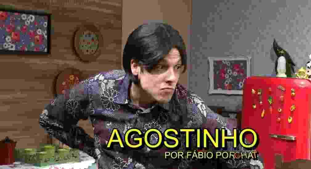 """30.ago.2016 - Fábio Porchat interpreta Agostinho em paródia de """"A Grande Família"""" com atores da Record - Reprodução/Record"""