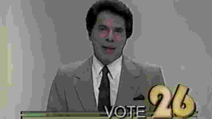 Campanha eleitoral de Silvio Santos, em 1989 - Reprodução