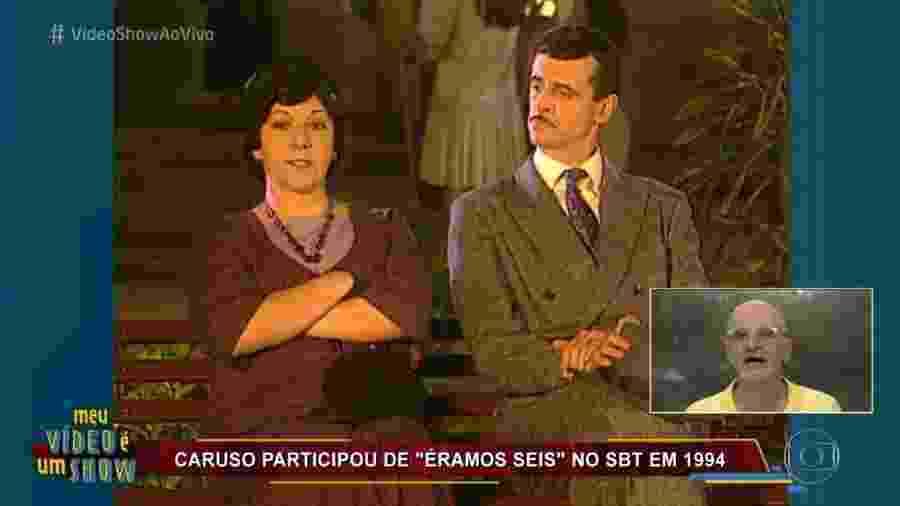 """Marcos Caruso revê cena de """"Éramos Seis"""", novela do SBT, no """"Vídeo Show"""" - Reprodução/TV Globo"""