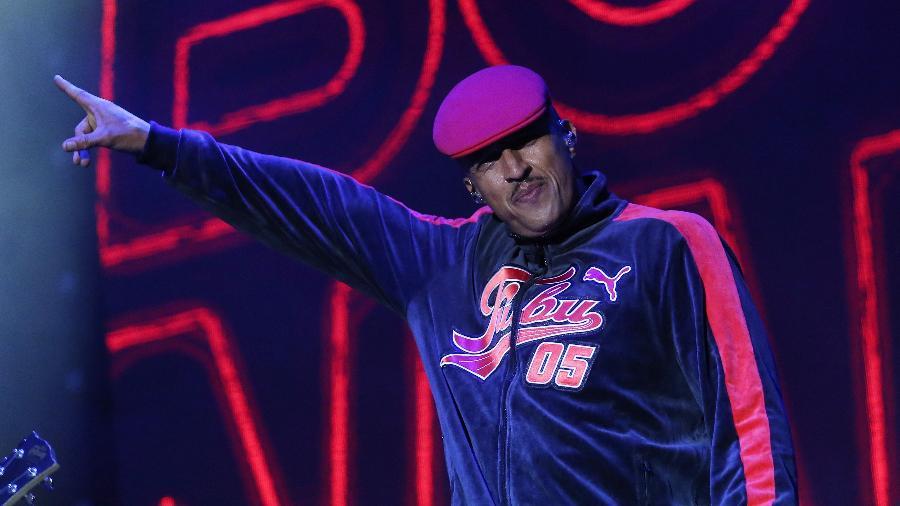 """No palco Axe do Lollapalooza Brasil 2018, o rapper Mano Brown apresenta seu show solo """"Boogie Naipe"""" - Ricardo Matsukawa/UOL"""