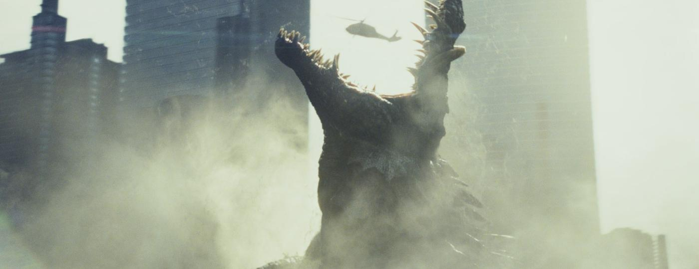 """Crocodilo engole um helicóptero em cena de """"Rampage: Destruição Total"""" - Divulgação/Warner Bros."""