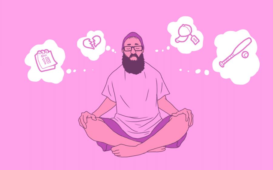 Arte para álbum de dez passos para aprender a meditar