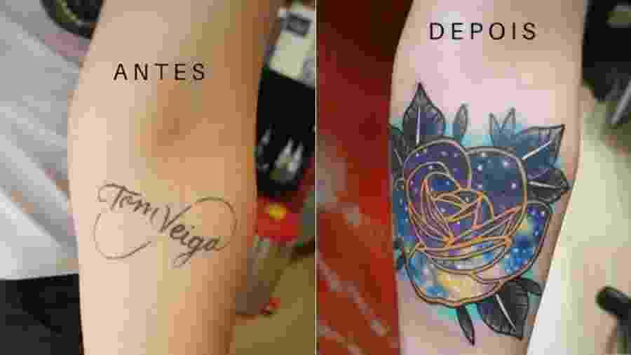 Alessandra Veiga cobre tatuagem após se separar de Tom Veiga - Reprodução/Instagram