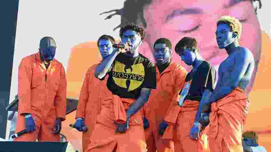 Brockhampton, boy band do hip hop, em show de 2017 - Kevin Winter/Getty Images