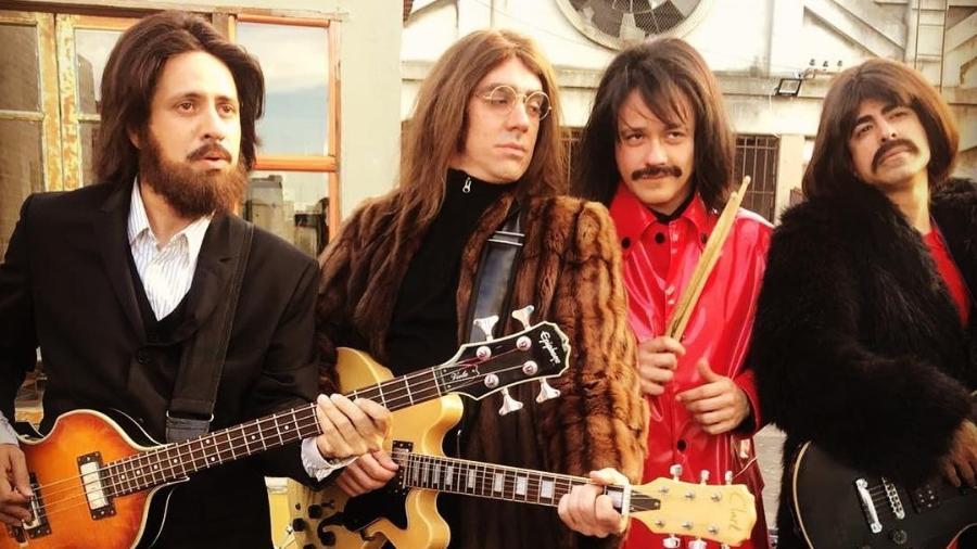 """""""Tá no Ar"""" satiriza despedida dos Beatles - Reprodução/Instagram/dantonmello"""