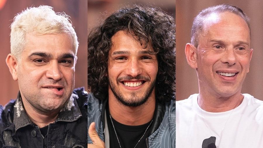 Evandro Santo, João Zoli e Rafael ilha estão na décima segunda roça - Montagem