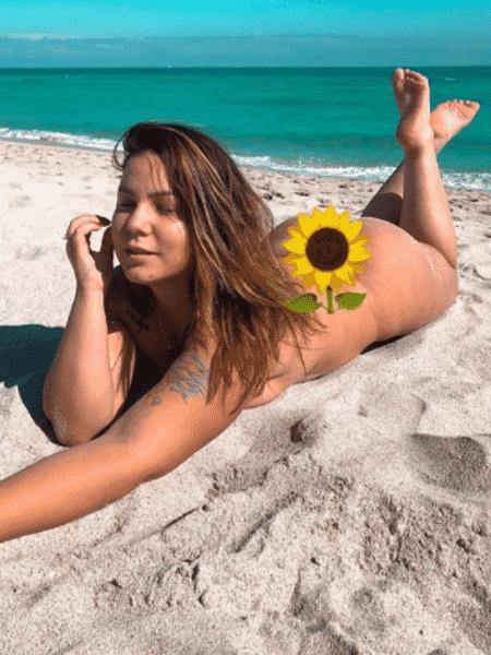 Ex-BBB Cacau posa nua em Miami - Reprodução/Instagram