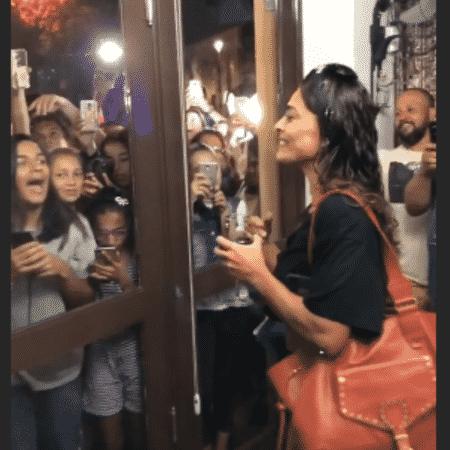 Juliana Paes é recepcionada por fãs no Rio Grande do Sul - Reprodução/Instagram
