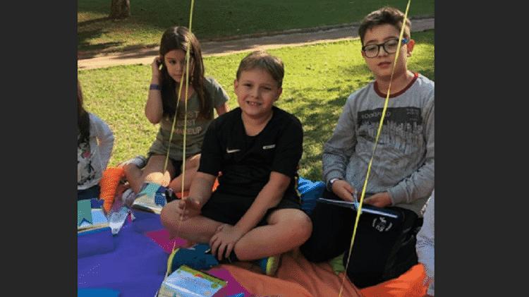 Davi Lucca ganhou piquenique como festa de aniversário de oito anos - Reprodução/Instagram