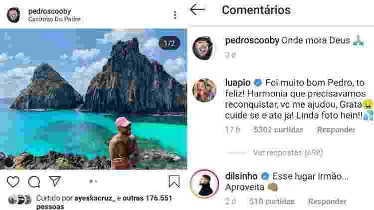 Luana Piovani comenta post de Pedro Scooby - Reprodução/Instagram