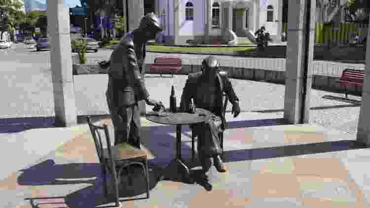 Estátua em homenagem a Noel Rosa na Vila Isabel - Alexandre Macieira/ Riotur - Alexandre Macieira/ Riotur