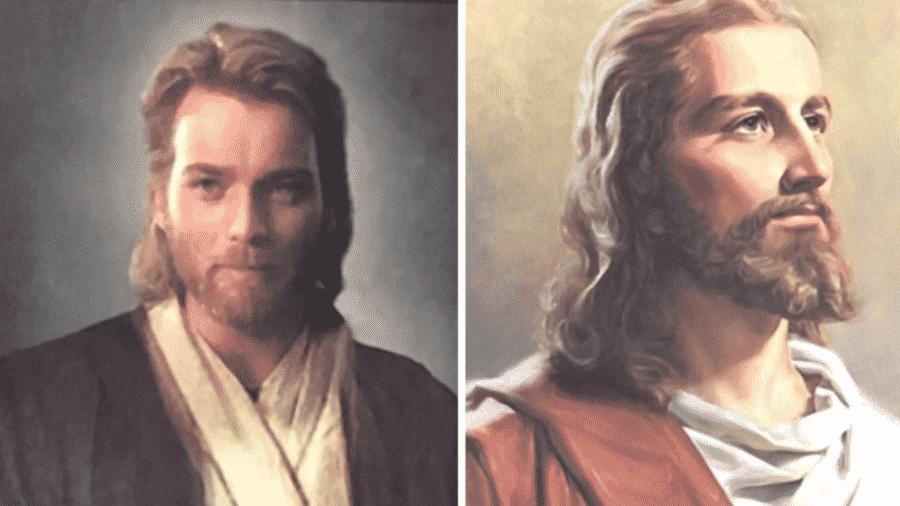 Fã de Star Wars trolla a própria mãe com imagem de Obi-Wan como Jesus - Reprodução/YouTube