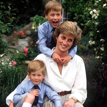 Princesa Diana com os filhos, William e Harry - Reprodução/Instagram