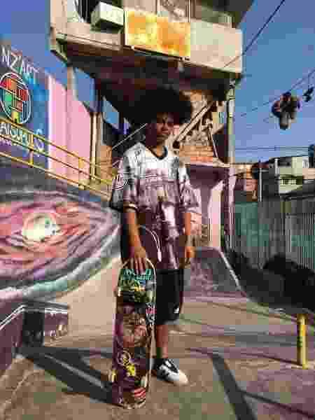 O skatista Otávio Rodrigues sonha em poder andar de skate no Parque Paraisópolis - Gloria Maria/UOL - Gloria Maria/UOL