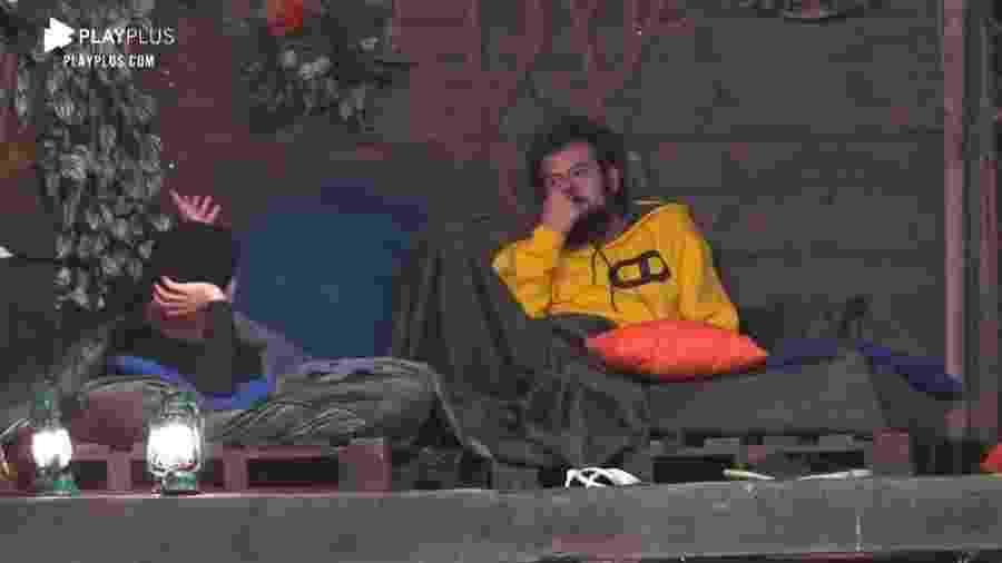 """Biel e Cartolouco falam de Lucas Selfie em """"A Fazenda 2020"""" - Reprodução/RecordTV"""