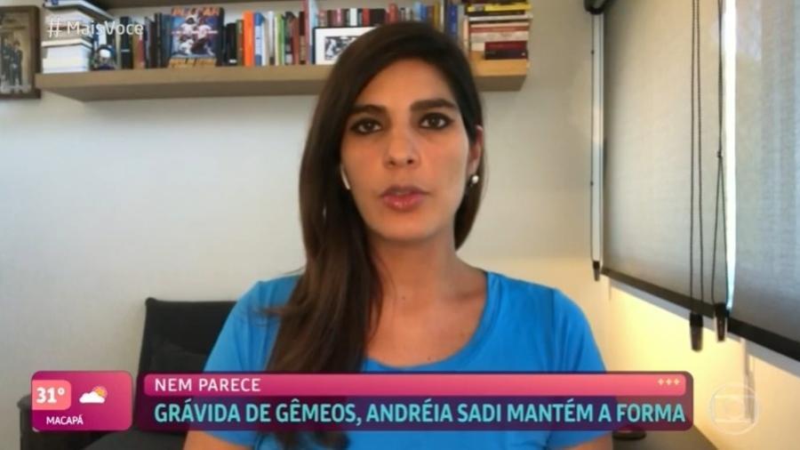 """Andréia Sadi no """"Mais Você"""" de segunda-feira (5); nas redes, público fez comentários sobre participação - Reprodução/TV Globo"""