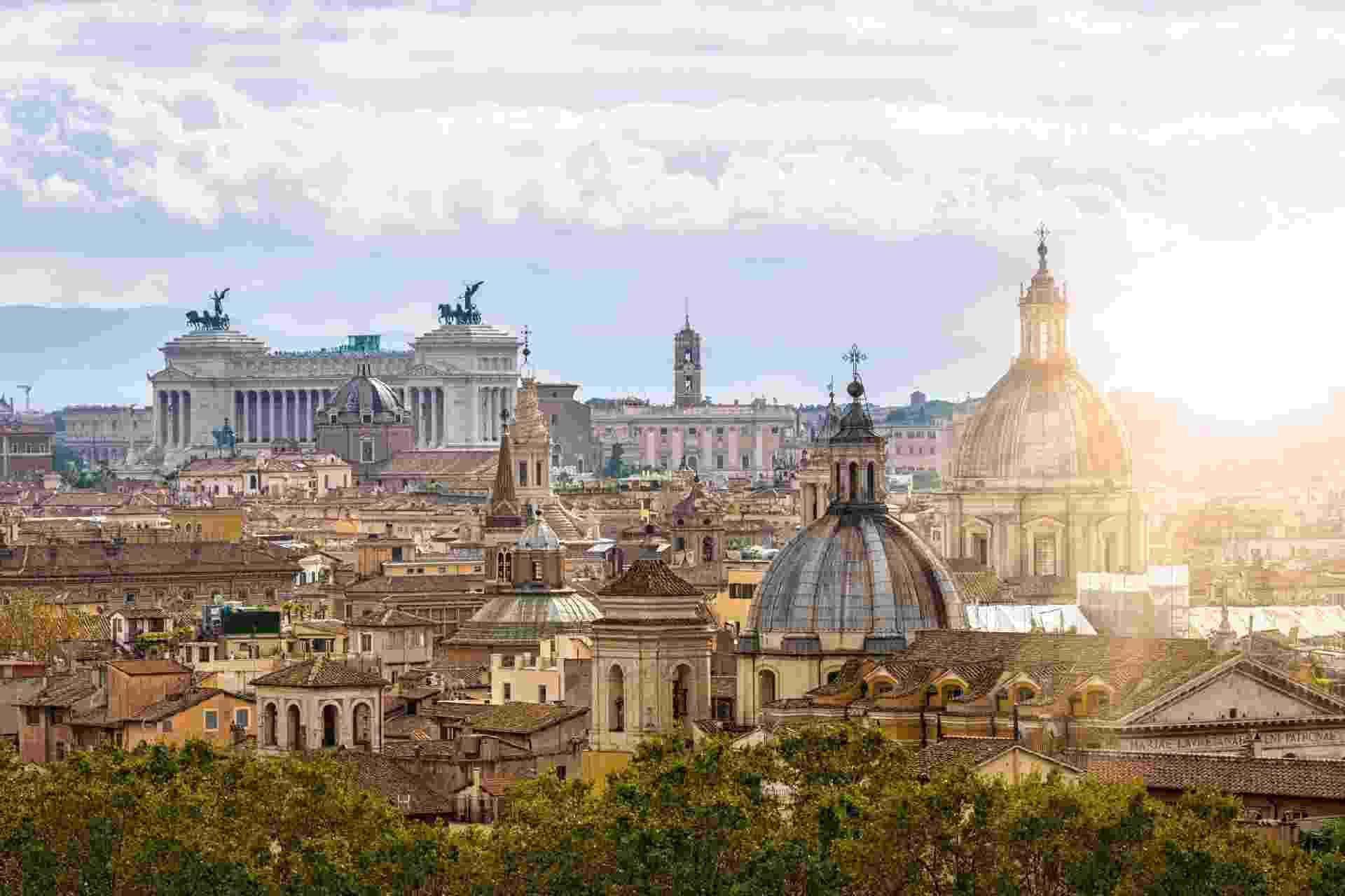 Vista panorâmica de Roma - iStockphotos