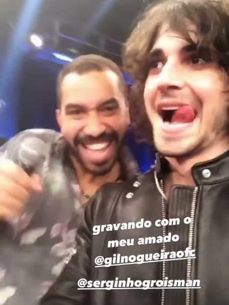 Gilberto Nogueira posa ao lado de Fiuk - Reprodução/Instagram