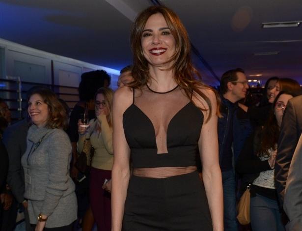 02.mai.2016 - A apresentadora Luciana Gimenez na festa de lançamento da nova programação da RedeTV!